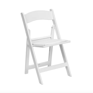 Elopement Package Option: White Folding Chair